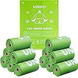 UNHO うんちが臭わない袋 生分解可能 防臭袋 うんち処理袋 トイレ袋 ペット 犬 猫 おでかけ 散歩 うんち取り 10ロール(100枚入り) 33×23cm