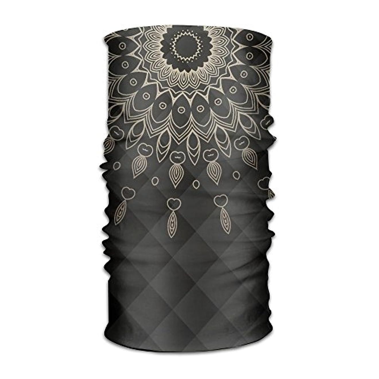 クローンスカートアルカイックF-CRAFT 黒い背景の上に曼荼羅 16+WAY 男女兼用 バンダナ 多機能チューブ型 フェイスマスク リストバンド ネックウォーマー サイクリング アウトドア 薄手 伸縮素材 吸汗速乾