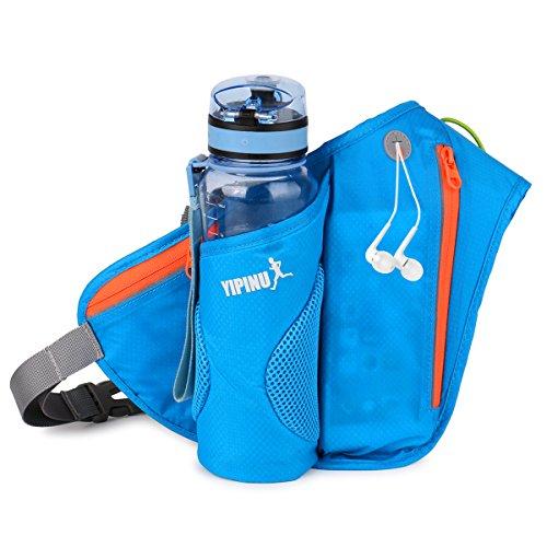 Dreamparkウエストバッグ ランニングポーチ 防水ボトルホルダー 多機能 軽量 ランニング サイクリングなどアウトドアシーン 全4色 5.5インチ サポート (ブルー)