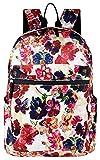 (バッグ ウィザード) Bag Wizard OUTDOOR DAY PACK 花柄 おしゃれ アウトドア リュックサック リュック レディース 人気 ブランド バッグ カジュアル スクール バッグ (バッグ ウィザード) 旅游 通勤 通学 大容量 (レッド)