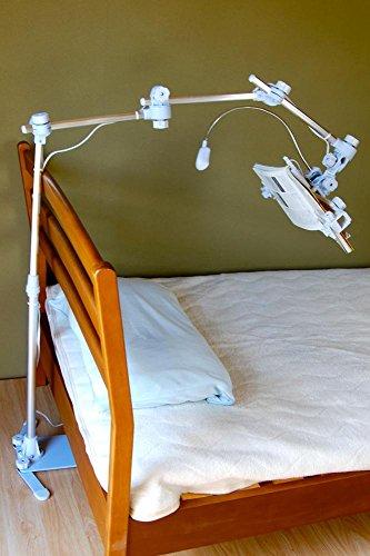 寝ながら読書/タブレット 頭上ベース式 ライト付き