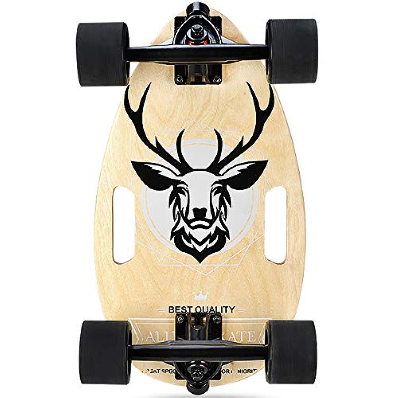 スケートボードファッションパターンメープルウッドエメリー紙ミュート耐摩耗四輪初心者スクーター17インチ