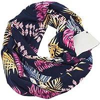 Auppova Scarf Wrap Shawl, Women Fashion Accessories Scarf Print Winter Warm Infinity Scarf Shawl Pocket Loop With Zipper Pocket