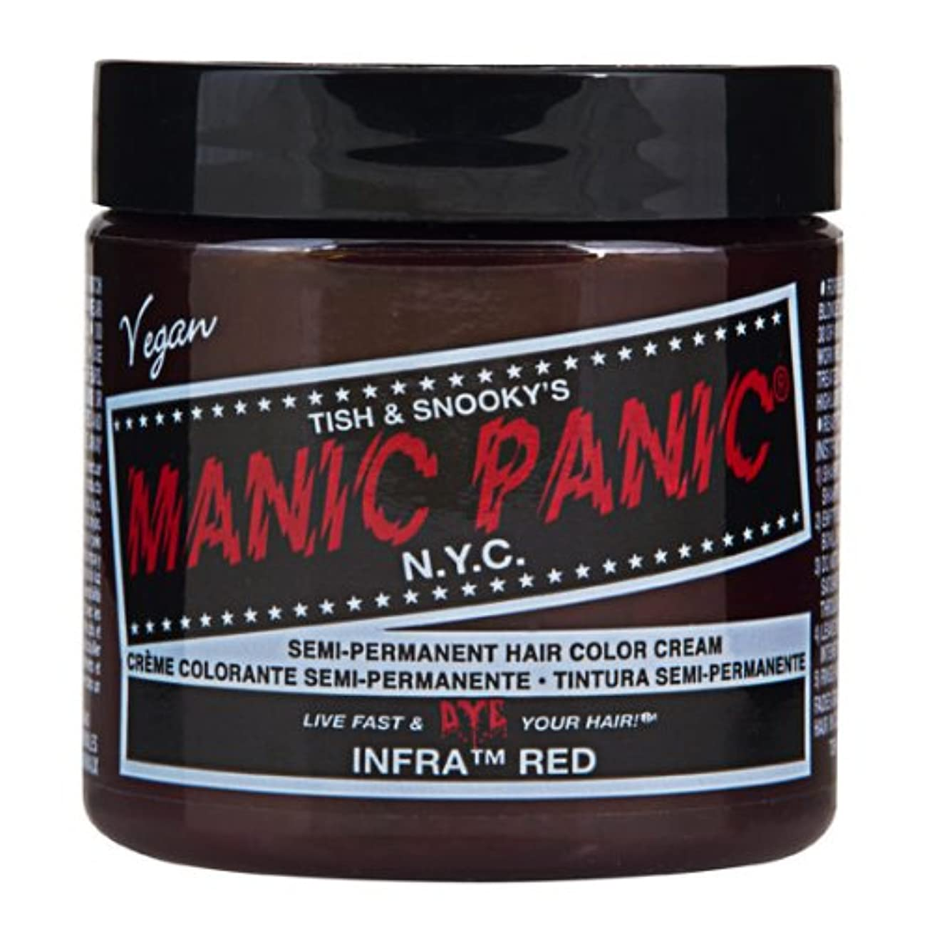 大騒ぎ石化するネイティブマニックパニック MANIC PANIC ヘアカラー 118mlインフラレッド ヘアーカラー