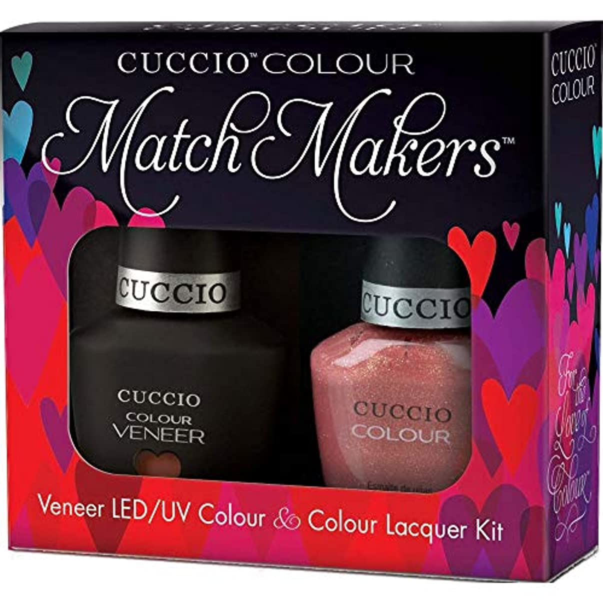 マラウイ本会議欲求不満Cuccio MatchMakers Veneer & Lacquer - Blush Hour - 0.43oz / 13ml Each
