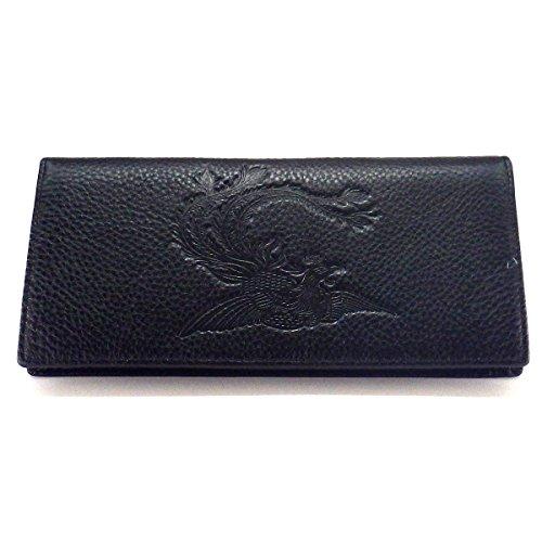 風水財布「鳳凰」(長財布)(黒)