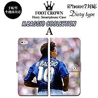 BRAVE CROWN t057 iPhone XS Max XR X 8 7 6s 6 plus プラス SE 5s 5 手帳型 スマホ ケース Xperia Galaxy 全機種対応 ダイアリー ブランド グッズ サッカー フットボールロベルト バッジョ BAGGIO イタリア 代表 ワールドカップ 94 98 メンズ レディース