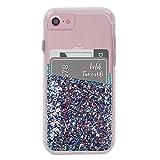 Case-Mate ID Pockets キラキラ グリッター カードホルダー ステッカー iPhone スマホ 汎用 2ポケット Turquoise Glitter CM035998