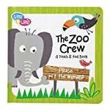 C.R. Gibson Gibby and Libby Textured Touch and Feel Board Book, The Zoo Crew by C.R. Gibson