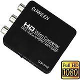 COWEEN AV to HDMI 変換 AV入力 HDMI出力 RCA 変換コンバーター 720p / 1080p 両方対応 コンポジット変換アダプター RCA端子 から HDMIテレビ に接続コネクター (av-hdmi, ブラック)