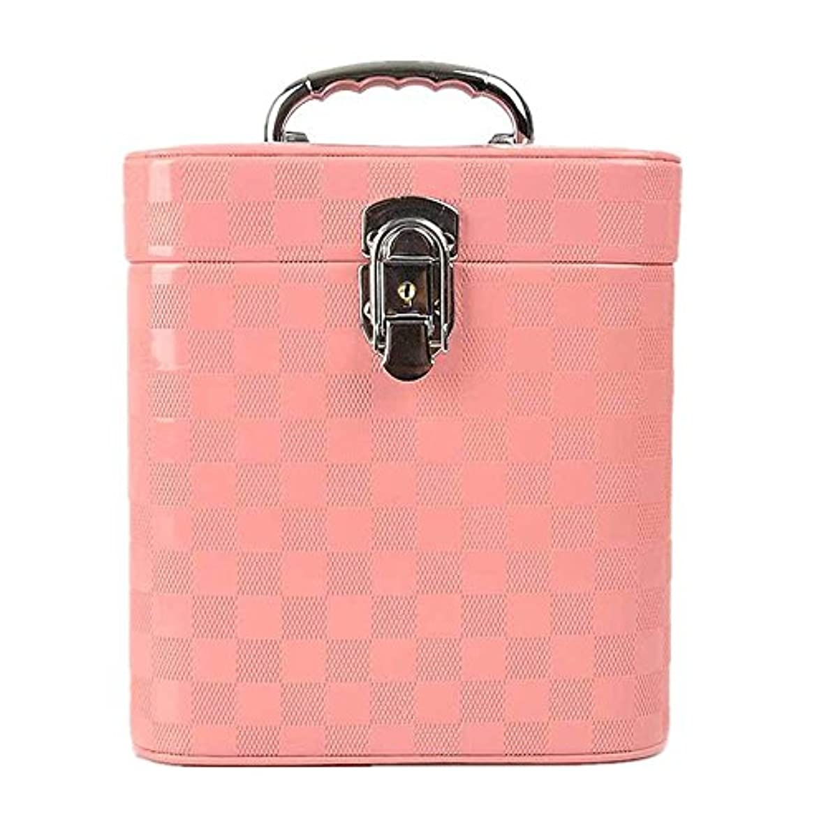 低い削減付与特大スペース収納ビューティーボックス 女の子の女性旅行のための新しく、実用的な携帯用化粧箱およびロックおよび皿が付いている毎日の貯蔵 化粧品化粧台