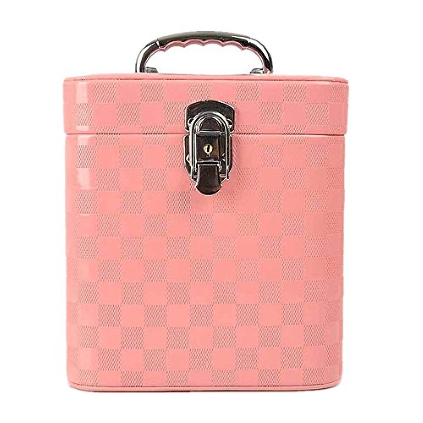 状態藤色提案する特大スペース収納ビューティーボックス 女の子の女性旅行のための新しく、実用的な携帯用化粧箱およびロックおよび皿が付いている毎日の貯蔵 化粧品化粧台