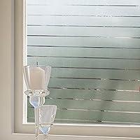 Decocar 静電気ガラスフィルム 目隠し 紫外線カット 飛散防止 窓 めかくしシート ガラス 窓用 フィルム 遮光 断熱 窓に貼るカーテン (92cm×200cm)