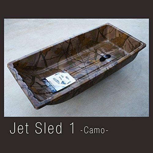 硬くて丈夫な大型ソリ Jet Sled 1 (Camouflage) ジェットスレッド 迷彩 カモフラージュ