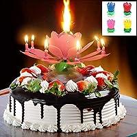 Homuner 誕生日キャンドル, 2つの層 14ドリームキャンドル, 360度回転する蓮, 音楽回転、