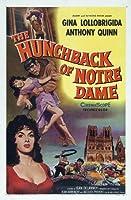 The Hunchback of Notre Dame映画ポスター(27x 40インチ–69cm x 102cm ( 1957)–( Anthony Quinn ) (ジーナ・ロロブリジーダ) ( Alain Cuny ) (ジャン・Danet ) (ロバート・Hirsch ) (ジャン・Tissier )