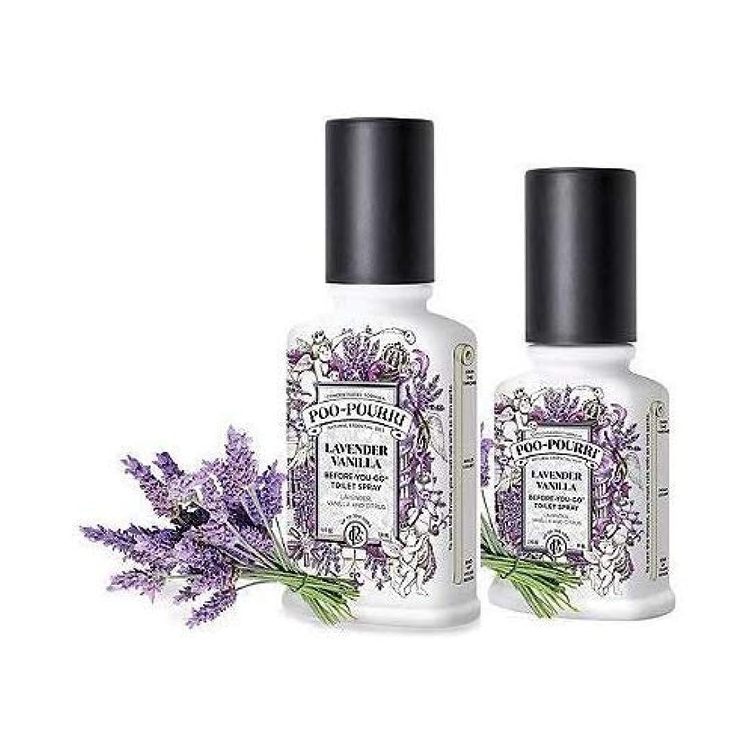 リンク変成器スポット(Lavender Vanilla) - Poo-Pourri Preventive Bathroom Odour Spray 2-Piece Set, Includes 60ml and 120ml Bottle, Lavender...