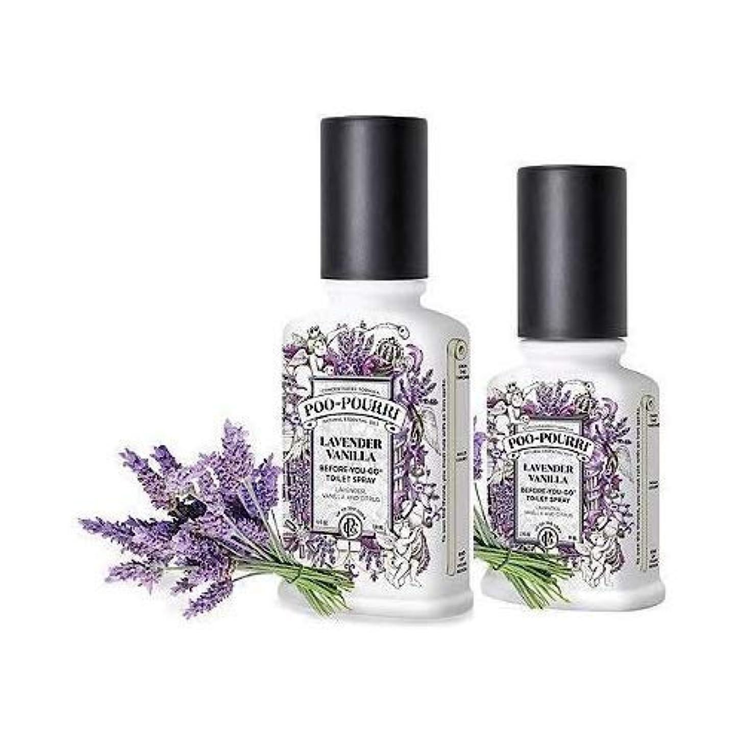 酸化する組み込む階段(Lavender Vanilla) - Poo-Pourri Preventive Bathroom Odour Spray 2-Piece Set, Includes 60ml and 120ml Bottle, Lavender...