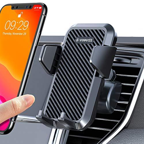 【2020年早春の新モデル】VANMASS 車載ホルダー スマホホルダー 車 エアコン 吹き出し口用 自動開閉 厚いケース対応 ワンタッチ/片手着脱/360度回転/雑音無し/安定性抜群/取り付け簡単 原料から作りまでの高品質 iPhone xs max/11/Samsung/HUAWEI/Xperia/AQUOS等全機種対応 日本語取扱説明書付き(安全運転に助力 ) (吹き出し口)