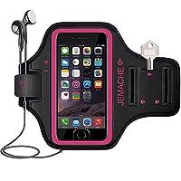 iPhone 7/ 8/ 7+ / 8+アームバンド、JEMACHE 指紋タッチパネル対応 ジム ランニング ワークアウト/エクササイズアームバンドケース iPhone 6/ 6s / 7/ 8用、iPhone 6/ 6S / 7/ 8Plus キー/カードホルダー付き iPhone 7 / 8
