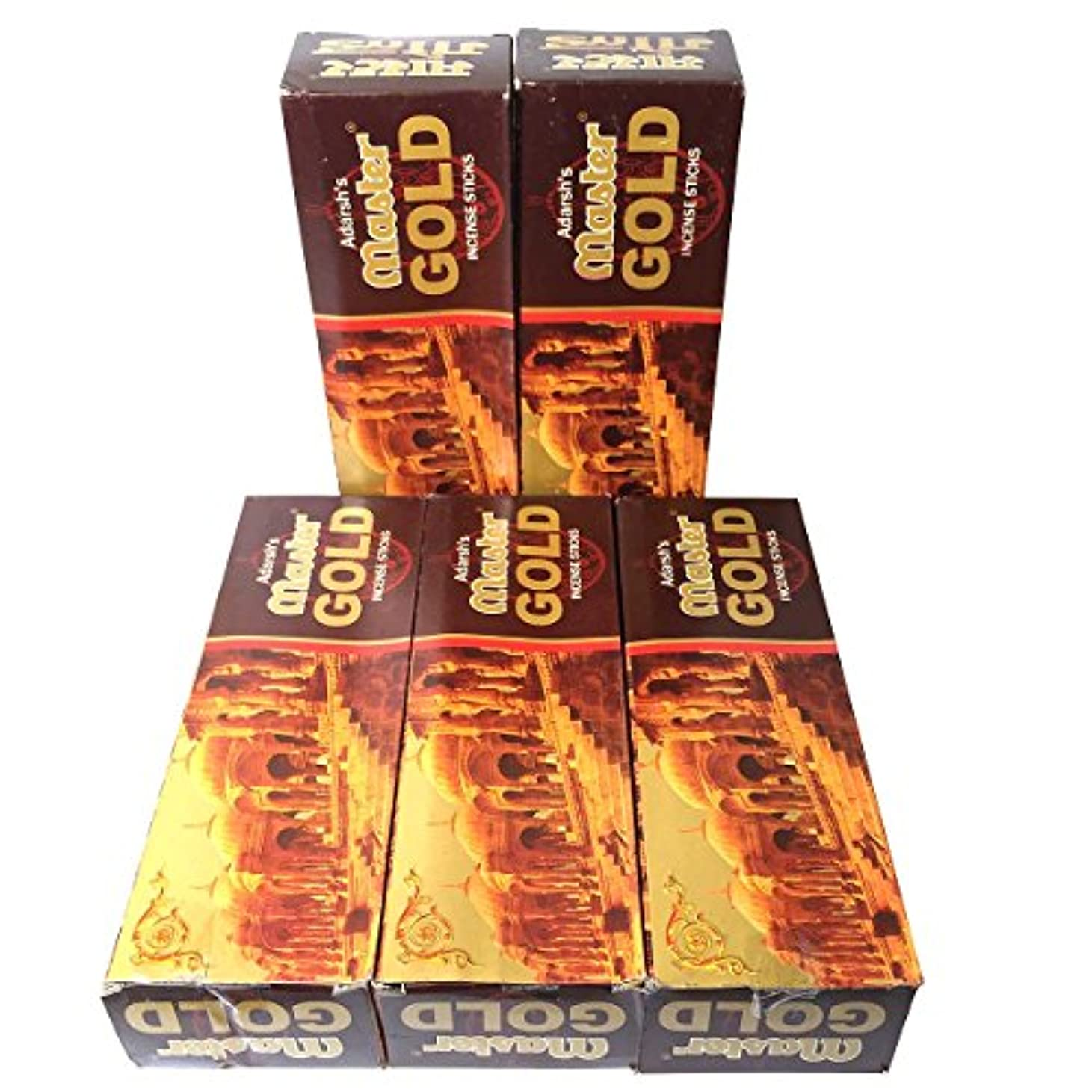 アプローチ大腿スロットマスターゴールド香スティック 5BOX(30箱)/ADARSH AROMATICS  MASTER GOLD/ インド香 / 送料無料 [並行輸入品]