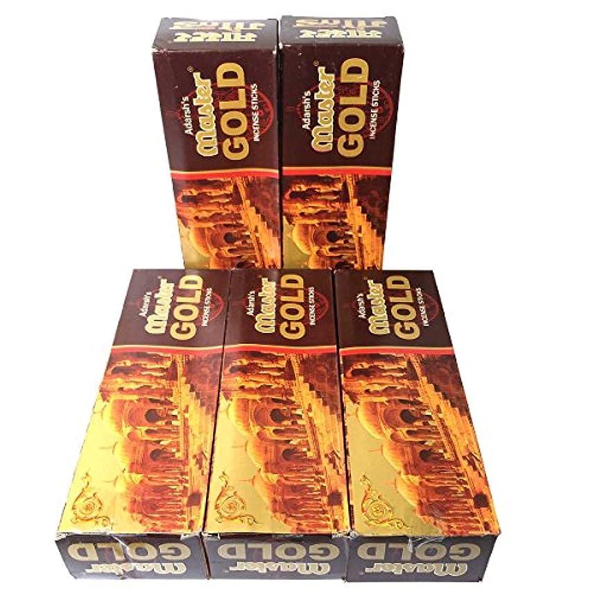 近代化定期的皮肉なマスターゴールド香スティック 5BOX(30箱)/ADARSH AROMATICS  MASTER GOLD/ インド香 / 送料無料 [並行輸入品]