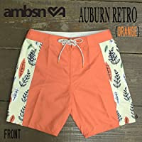 AMBSN/アンビション AUBURN RETRO BOARDIE BOARDSHORTS ORANGE 男性用 サーフパンツ ボードショーツ 海パン メンズ 海水パンツ 水着 サーフトランクス