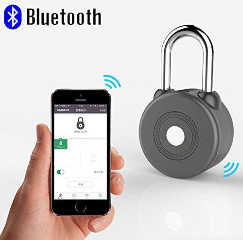 スマート 南京錠 Bluetooth4.0 スマホでロック 施錠履歴を記録 アプリで共有可能 Orphan