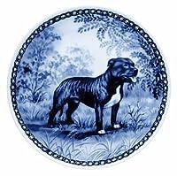 デンマーク製 ドッグ・プレート (犬の絵皿) 直輸入! Staffordshire Bull Terrier / スタッフォードシャー・ブル・テリア