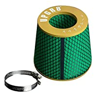 Upgr8 Universal Super High Dry Flow Air Filter Intake Cone (4.0(102MM) Gold) [並行輸入品]