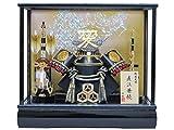 京寿 五月人形 兜飾り ケース入り 間口43×奥行30×高さ38cm 12号直江兜ケース飾り YN31818GKC 直江兼続 愛