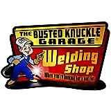 Busted Knuckle Garage bust120溶接Shop Sign