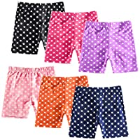 ZukoCert 6 Pack Colorful Dance Shorts Girls Bike Short for Breathable Dance Underdress 3-10T