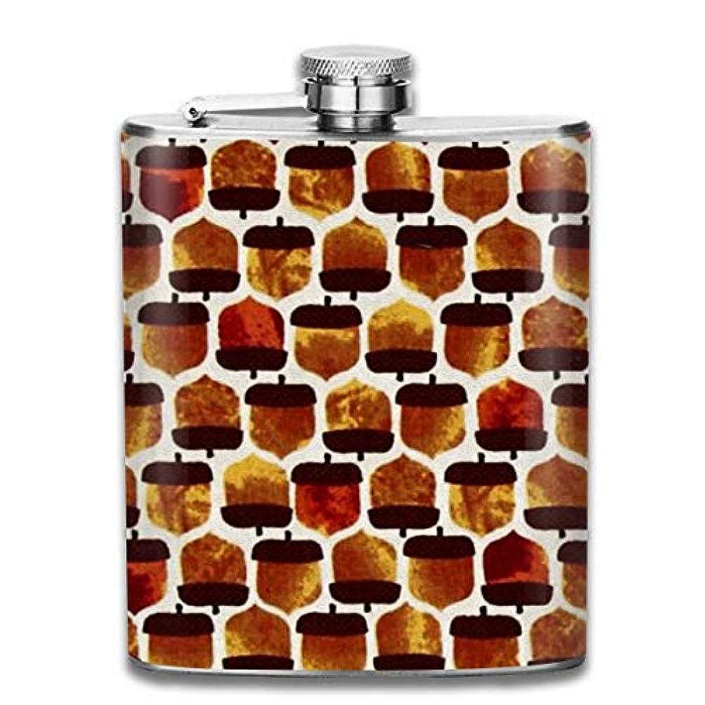 間欠困惑するうれしい松の実 フラスコ スキットル ヒップフラスコ 7オンス 206ml 高品質ステンレス製 ウイスキー アルコール 清酒 携帯 ボトル