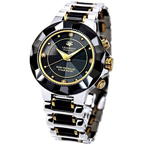 時計 電波時計 腕時計 ダイヤモンド セラミック 1年保証 高級腕時計 人気モデル メンズ 紳士 誕...