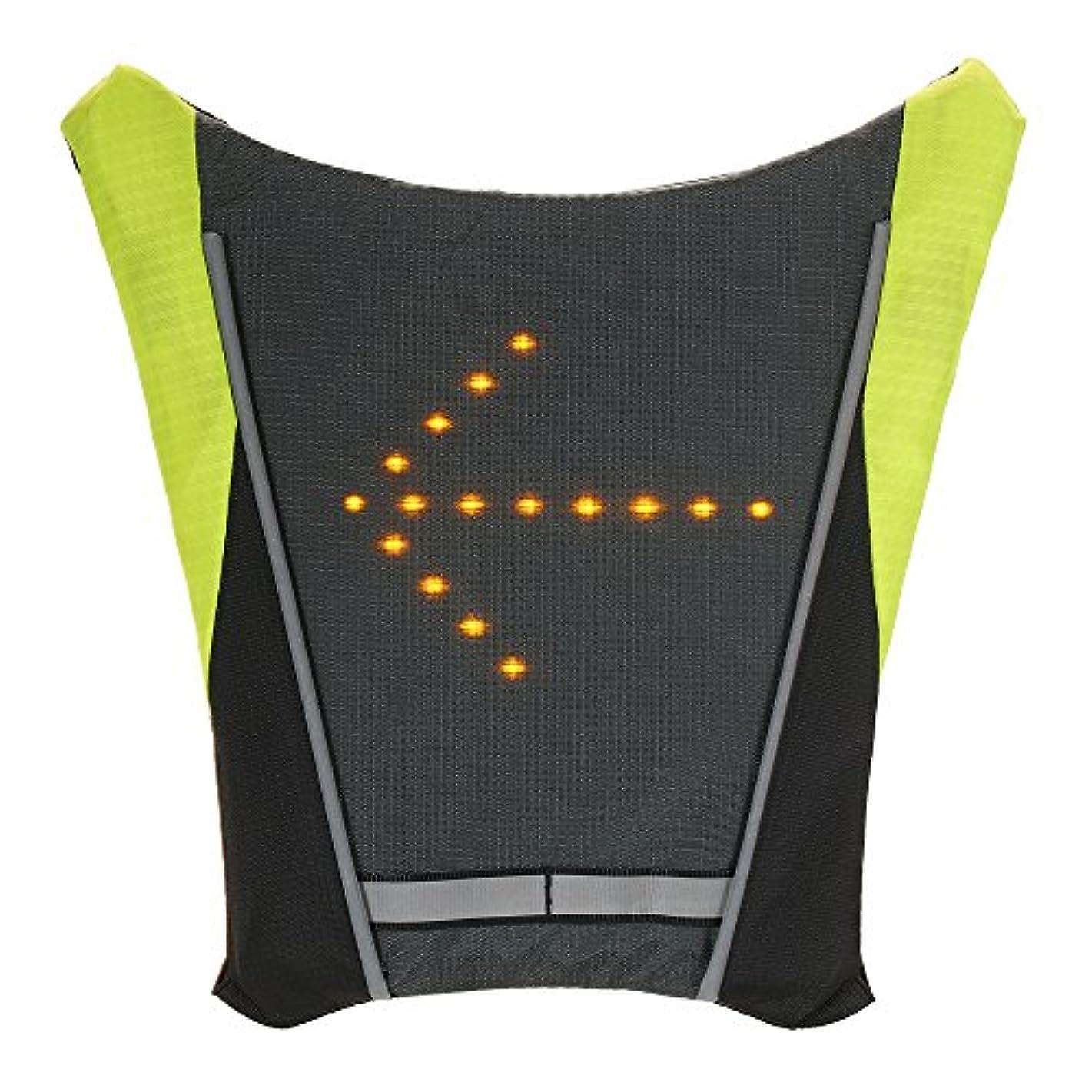 実際穏やかな慣習LixadaワイヤレスTurn信号LEDライトベストUSBの充電式反射Guidingライト安全警告夜間のサイクリングランニングウォーキングハイキングバックパックビジネス旅行スクールバッグ