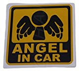 ANGEL IN CAR ( 12cm シール ステッカー デザイン 天使 )