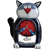 Allen Designs Studio アレンデザイン 振り子時計 掛け時計 「ブラックキティ」Black Kitty 黒猫 P1050 [並行輸入品]