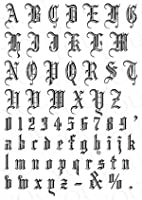コラージュペーパー 紙 2枚セット ゴシックアルファベット 大 ブラック レジンの背景やデコパージュにも イラスト 素材 コレクション スクラップ ペーパークラフト