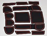 KINMEI(キンメイ) SUBARU XV GP系 専用設計 赤 インテリア ドアポケット マット ドリンクホルダー 滑り止め ノンスリップ 収納スペース保護 ゴムマット スバルxv-r