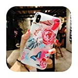11プロ高級3DシリコンケースiPhone 6 7 6 s 8プラス5 s SE X XS MAX XR耐衝撃性の花電話ケースiPhone 6 7ケースガール-Flower 12-For iPhone XS Max