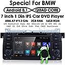hizpo Android 8.1 車 GPS ステレオ イン ダッシュ DVD プレーヤー 7インチ HD タッチスクリーン 1080P BMW 3 シリーズ E46 M3 318 320 325 330 335 サポート GPS ナビゲーション WiFi 4G ブルートゥース DAB SWC OBD 用