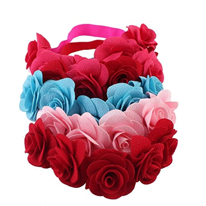 GRALARA5本 女の子 ヘアバンド ビーチ 赤ちゃん 花 ヘッドバンド ヘッドドレス 髪飾り お花飾り