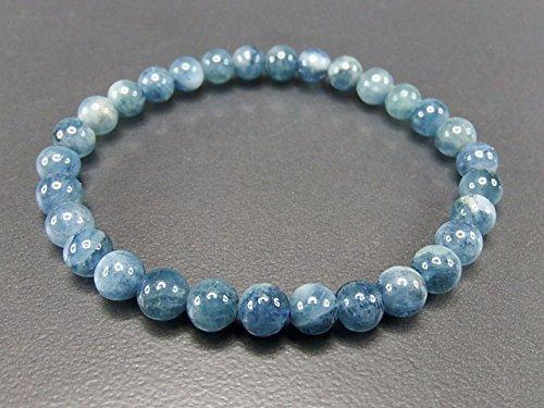 石街 isigaii 『天使の石』天然石濃い目アクアマリン約6mm 3月誕生石 ブレスレット 数珠 パワーストーン