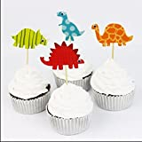 24pcs Dinosaur Cake Topper Cupcake Picks Party Cake Decoration