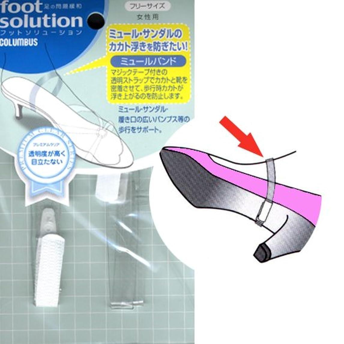 構成する宣伝トランスペアレントフットソリューション(footsolution) ミュールバンド レギュラーサイズ#80