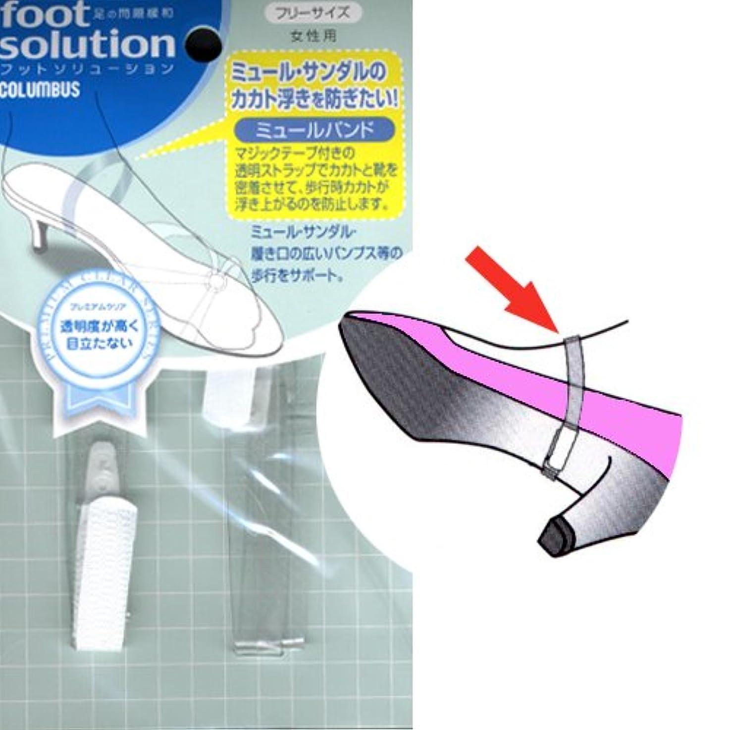 暫定医療過誤圧縮フットソリューション(footsolution) ミュールバンド レギュラーサイズ#80
