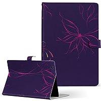 igcase iPad mini 4 mini 5 用 Apple アップル iPad アイパッド iPadmini4 タブレット 手帳型 タブレットケース タブレットカバー カバー レザー ケース 手帳タイプ フリップ ダイアリー 二つ折り 直接貼り付けタイプ 002247 木目 花 イラスト 紫