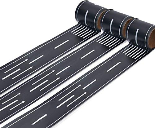 Mille Ti Rana 道路 線路 ミニカー と遊べる マスキングテープ 1巻5m 3個セット (矢印道路)