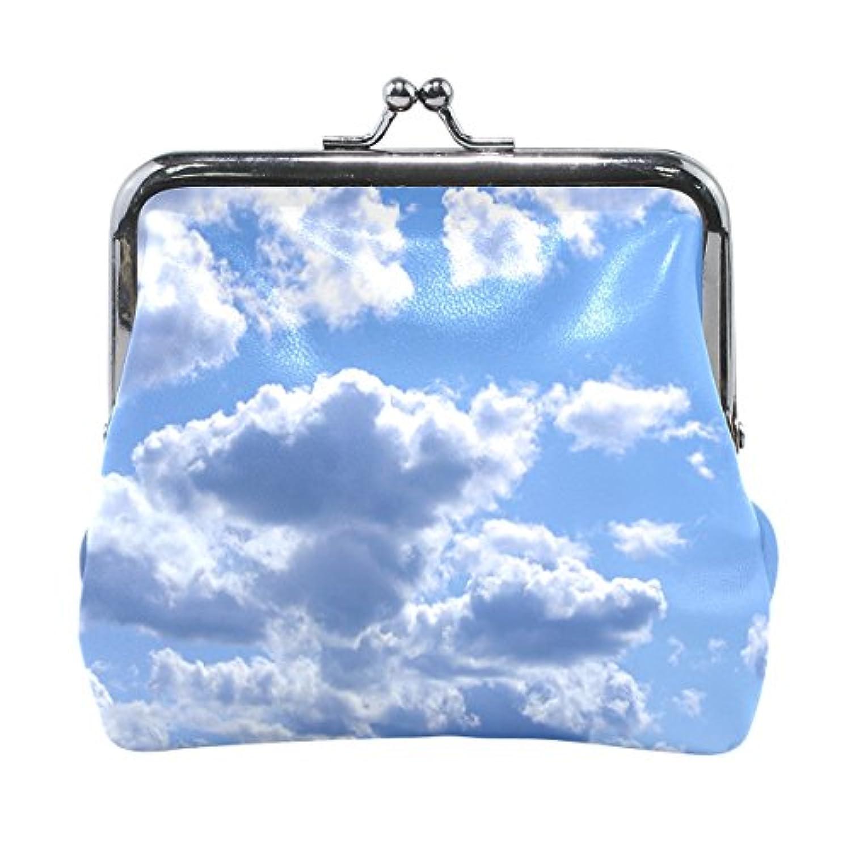 Anmumi がま口 ポーチ 雲 空 コインケース 財布 小銭入れ PUレザー レディース キッズ 子供 人気 大容量 小物ケース かわいい 通勤通学